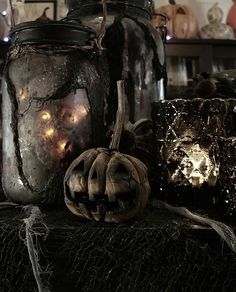 Rustic Goth Halloween.
