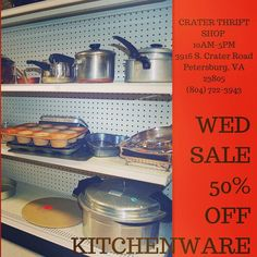 Need new #pots #pans or #bakeware? #buylocal #shoplocal #thriftstore #thriftshop #hopewellva #petersburgva #colonialheights #chesterfield #rva #804 #kitchenware #kitchen #cooking101 #cooking