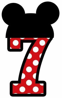 Numero 7 de Mickey mousse
