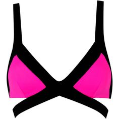 Agent Provocateur Mazzy Bikini Bra Black Pnk Org ( 170) ❤ liked on Polyvore  featuring swimwear ae0717b37