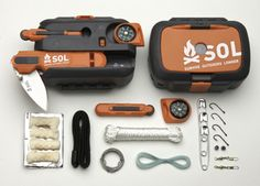 Origin Survival Kit...  It's bad a$$, and is small enough to hold in your hand.  Get it, stash it in your camping stuff, and go Bear Grylls on us! #Camping #Outdoors #Kits
