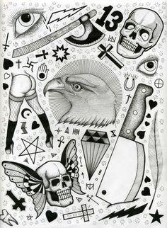 tattoo flash sheets