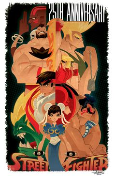 Image of Street Fighter 25th Anniversary Print by Kwestone