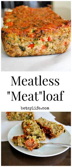 "Meatless ""Meatloaf"" Make into hamburger patties, add garlic."