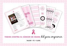 Tod@s contra el cáncer de mama – kit para imprimir – GRATIS (free breast cancer awareness printable kit in Spanish)