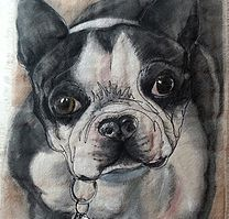 Pet portraits painted on fabric!  Let me capture a lasting memory of your beloved pet.  100% handmade custom pet portraits from photos. Incredibly reasonable price!