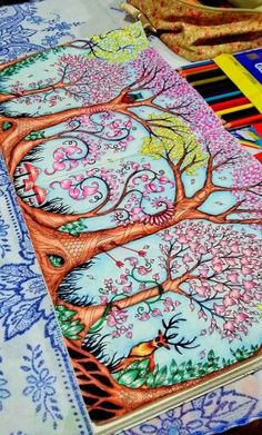 Trees Owl. Enchanted Forest. Árvores Coruja. Floresta Encantada. Johanna Basford Enchanted Forest Book, Enchanted Forest Coloring Book, Johanna Basford Books, Johanna Basford Coloring Book, Secret Garden Book, Secret Garden Coloring Book, Lost Ocean, Polychromos, Color Pencil Art