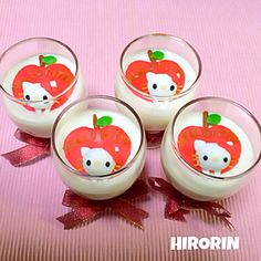 Hello kitty Apple mousse