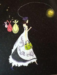 """Dama de noche"" Ilustración de Gaëlle Boissonnard"