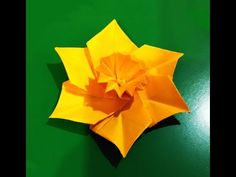 Origami Narcissus / Daffodil . Easter table decoration. Украшение стола - YouTube