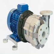 Centrifugal pumps are used to transport liquids through an impeller that rotates to increase the pressure of a fluid; the rotational energy typically comes from an engine or electric motor.