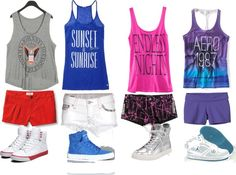 tanks and skytops, created by lackey-lack on Polyvore