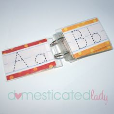 What a great way to practice writing letters without wasting tons of paper.  It would be great for a center.