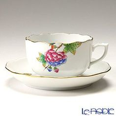 Herend Petite Victoria   Tea cup and saucer: