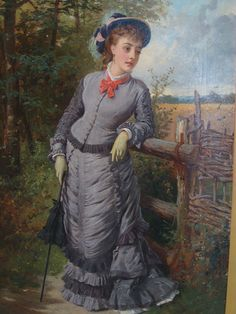Edward Charles Barnes - A fashionable Victorian lady painting | Hansons Auctioneers and Valuers