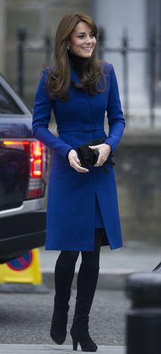 kate middleton blue christopher kane coat scotland visit