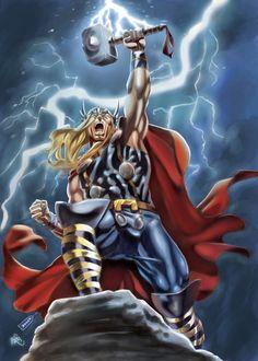 #Thor #Fan #Art. (THOR) By: Cuccadesign.