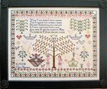 Mary Ann Mossom 1821 English reproduction cross stitch chart by Samplers Revisted from Stitching Pretty