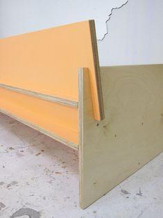 — Color Blocked Sofa Painted Baltic Birch For a. Diy Sofa, Diy Furniture Sofa, Space Saving Furniture, Modular Furniture, Diy Chair, Recycled Furniture, Plywood Furniture, Cheap Furniture, Furniture Plans