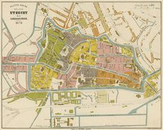 Utrecht city map, A. Braakensiek 1879