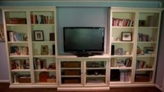 built in storage and media center