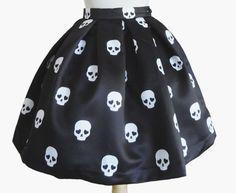 cute skull skirt