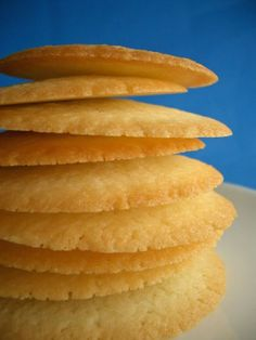CRISP SWEDISH BUTTER COOKIES: 1 cp butter, softened; 1 cp sugar, 1 egg, 1 1/2 t vanilla, 1 cp potato starch flour, 1 cp flour. Cream together butter/sugar. Beat in egg/vanilla. Sift together flour and potato starch flour; add to butter mixture and stir until combined. Chill dough for about an hour. Roll into small balls and place on ungreased or parchment lined cookie sheets. Press gently with palm of hand to flatten slightly. Bake at 375 degrees F for 10 minutes or until edges are brown.