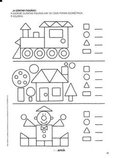 Preschool Shapes Worksheets for January. Shapes Worksheets, Kindergarten Math Worksheets, Worksheets For Kids, Learning Activities, Preschool Activities, Kids Learning, Preschool Shapes, Teaching Shapes, Math For Kids