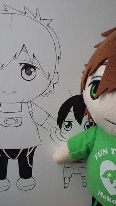 Plush toy Makoto with apron ... From niwakunkun ... Free! - Iwatobi Swim Club, haruka nanase, haru nanase, haru, nanase, haruka, makoto tachibana, makoto, tachibana, free!, iwatobi, plush doll, plush toy, plushie