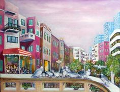 Blacony In Tel Aviv Painting - Sara Hagay