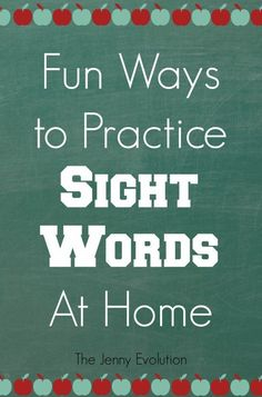 Sight words are one of the first ways your child begins reading. As a parent, it's extremely important for you to practice sight words at home.