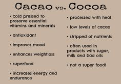 Chocolate tops the list of food cravings, but not all chocolate is created equally. Opt for healthier versions like cacao or cocoa! Cacao Fruit, Cacao Nibs, Danette May, Smart Snacks, Help Losing Weight, Weight Loss Snacks, Healthy Tips, Healthy Snacks