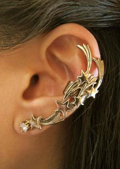 Bronze Comet Ear Cuff by martymagic on Etsy