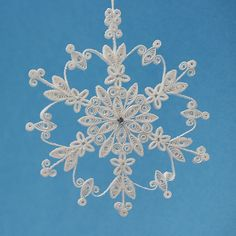 Stunning Stellar Dendrite Snowflake  White by AGiftwithinaGift, $17.25
