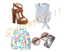 """""""SUMMER ! ! !"""" by own-style ❤ liked on Polyvore featuring TIBI, Moschino and Valentino"""