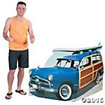 Woody with Surfboard Cardboard Stand-Up