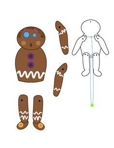 Activité : Marionnette articulée Homme en pain d'épices Christmas Bows, Christmas Paper, Christmas Crafts, Xmas, 3d Paper Crafts, Paper Toys, Art Activities For Kids, Art For Kids, Paper Doll Template