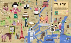 Discover the wonderful world of Tokyo! From 'City Atlas' by Martin Haake.