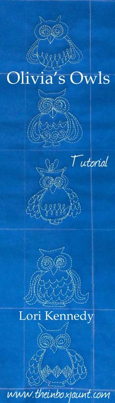 Lori Kennedy shows you how to do your own easy free motion embroidery owls ...