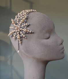 Jane Taylor Millinery - SILVER PEARL SHOOTING STAR