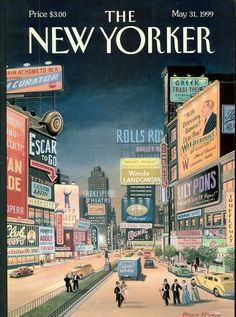 Postcards from The New Yorker: One Hundred Covers from Ten Decades - French, 1999, Bruce McCall