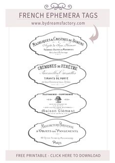 Outstanding french country decor ideas are offered on our internet site. look at this and you will not be sorry you did. French Country Living Room, French Country Farmhouse, French Decor, French Country Decorating, Printable Labels, Free Printables, Printable Paper, Vintage Labels, Vintage Ephemera