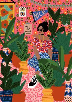 Fashion Illustration Rafaela Mascaro - The designer Rafaela Mascaro created Studio Grand-Père in 2015 with the purpose of encouraging and inspiring people to expand their … Art Prints, Inspiration, Art Drawings, Drawings, Painting, Illustration Art, Art, Artsy, Pop Art