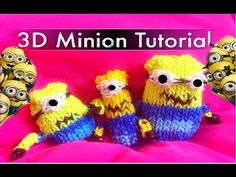 Loombands Tutorial, Minions, Rainbow Loom Bands, Rubber Bands, Cool Things To Make, Videos, Crafts For Kids, German, Crochet Hats