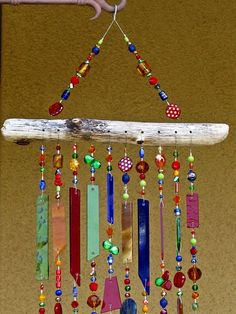 Windchime Suncatcher Stained Glass Wind by JudyEvansCollection