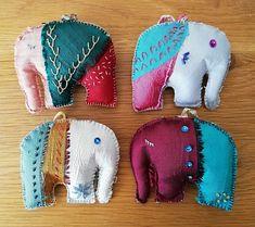 "Racheal Diment via Facebook ""Slow Stitch"" group Little Elephant, Small Things, Dinosaur Stuffed Animal, Craft Ideas, Stitch, Facebook, Group, Handmade, Crafts"