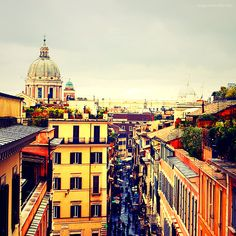 Rome Photo 8x8 (20x20cm) Travel Photography - Europe Italy Spring Home Decor Hotel Hostel Restaurant Cafe Travel Agency Book Cover traveling. $23.00, via Etsy.