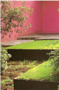Luis Barragán (1902-1988) - raised lawn, multiple level courtyard