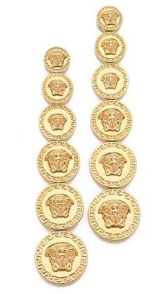 Versace Medusa Drop Earrings