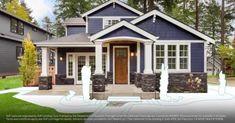 Trendy farmhouse exterior design curb appeal wrap around porches 22 Ideas House Paint Exterior, Exterior Paint Colors, Dream House Exterior, Exterior House Colors, Paint Colors For Home, Exterior Design, House Siding, House Ideas Exterior, Home Exteriors
